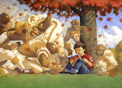 Kid Reading About Foo... by    - Masterpiece Online