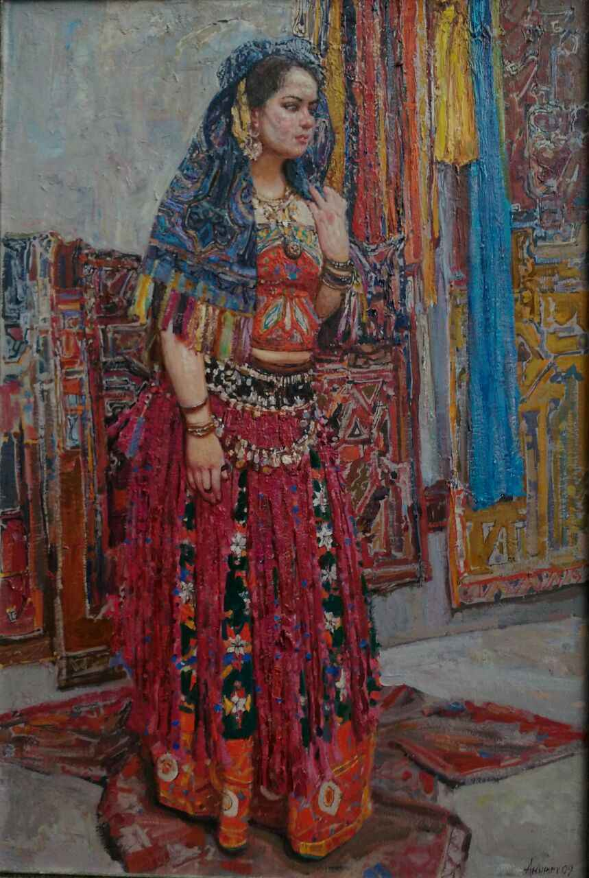 Woman in Eastern Dress by  Daud Akhriev - Masterpiece Online