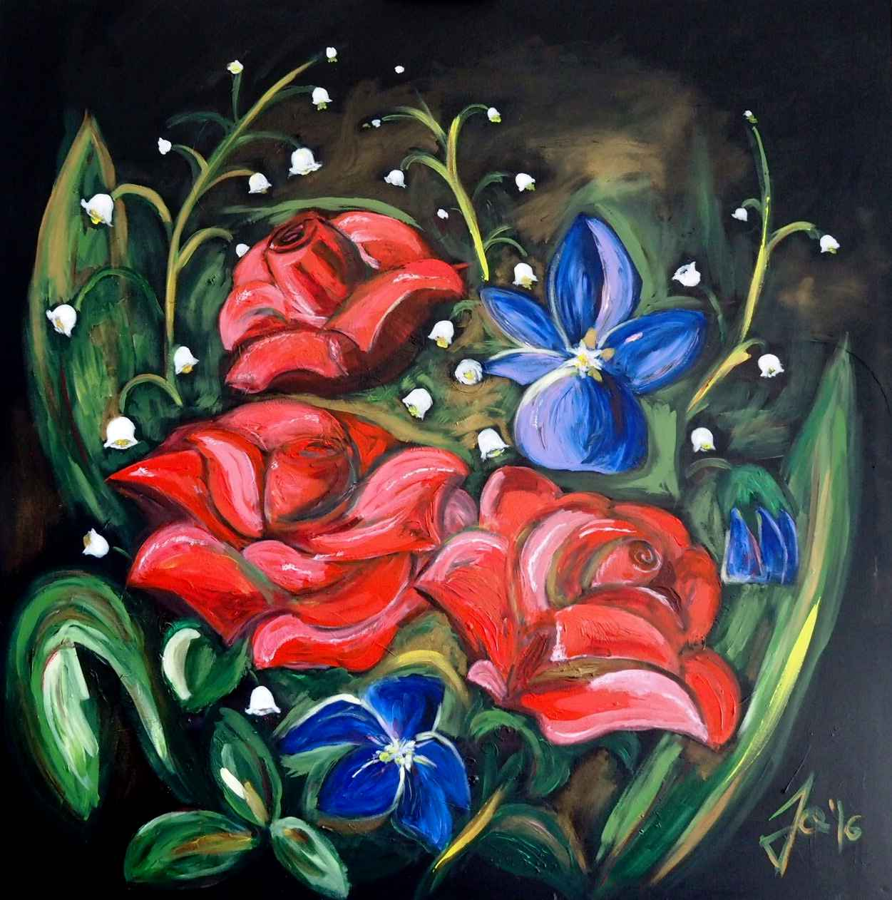 Roses and Violets by Mme Ioana JITARU - Masterpiece Online
