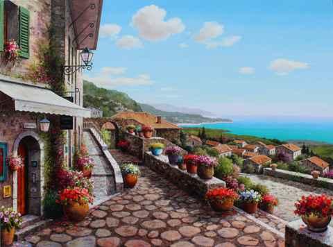 Flowerpot Row by  Soon Ju Choi  - Masterpiece Online
