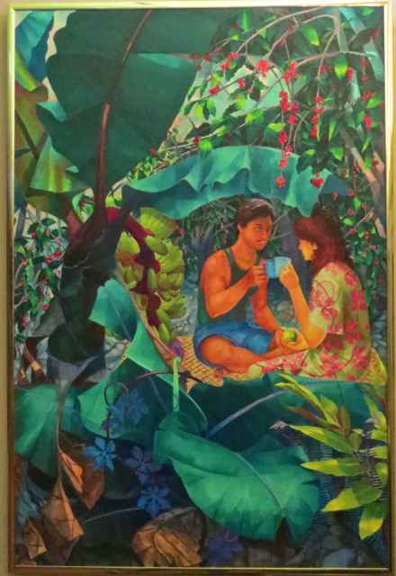 Kona Coffee Duet by  John Thomas (1927-2001) - Masterpiece Online