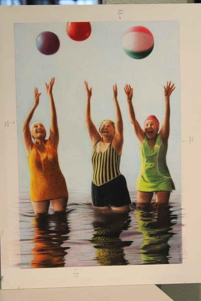 Having a Beach Ball by  Jeff Eckert - Masterpiece Online