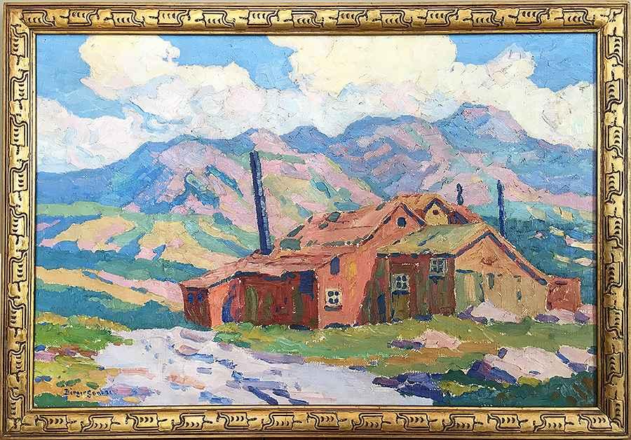 Old Zinc Mill  by  Birger Sandzen