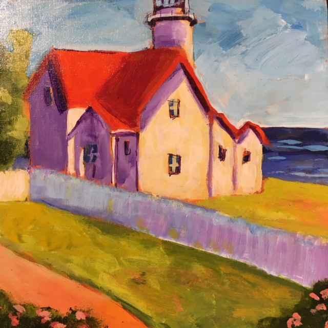 West Chop Light House... by  Kate Winn - Masterpiece Online
