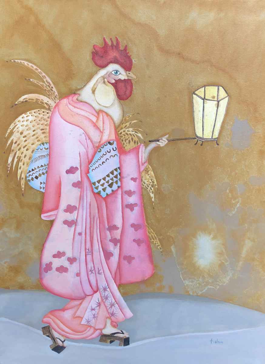 Cocks & Kimonos by  Tisha Weddington - Masterpiece Online