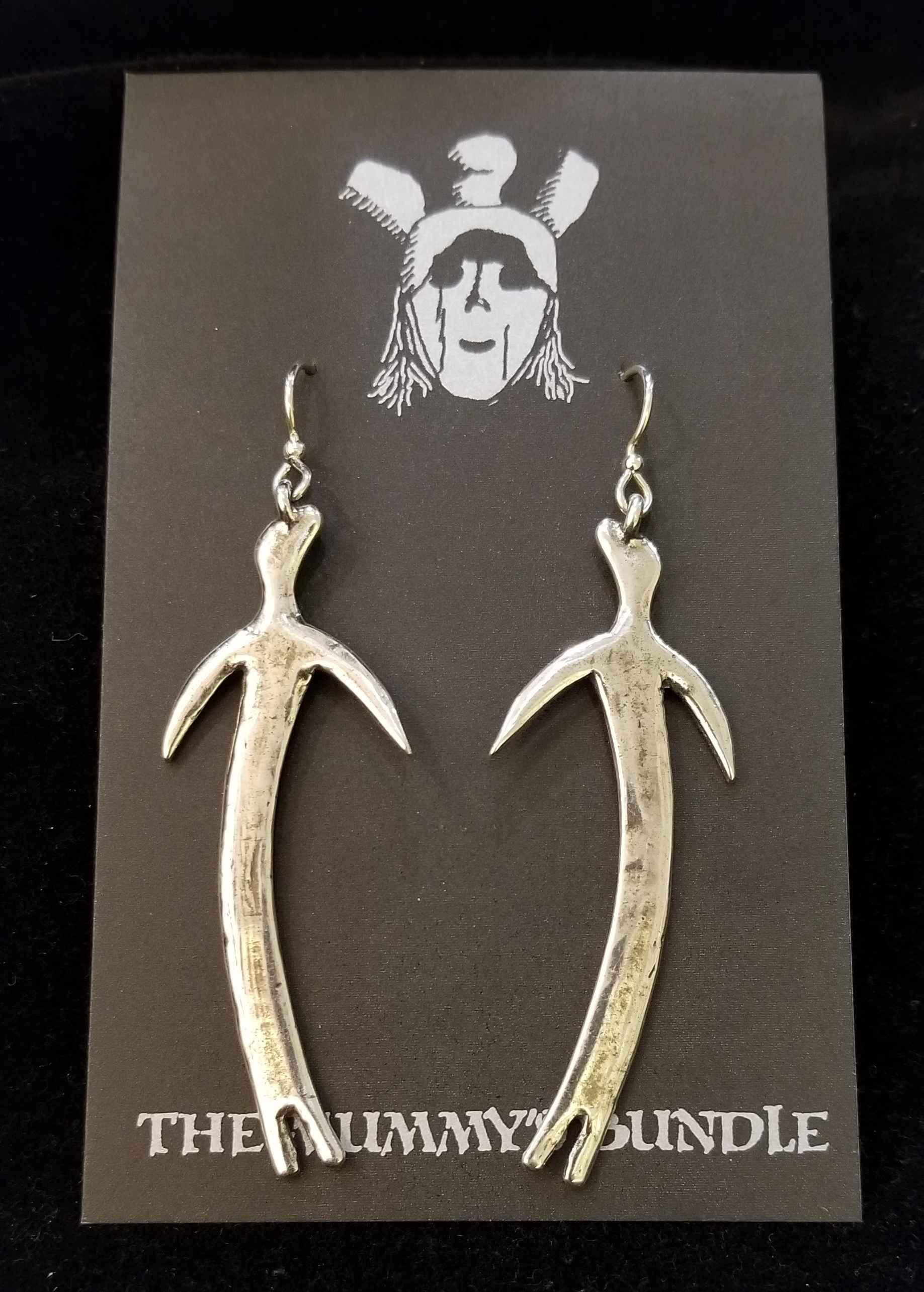 Slim Man Silver Earri... by  Mummy's Bundle - Masterpiece Online