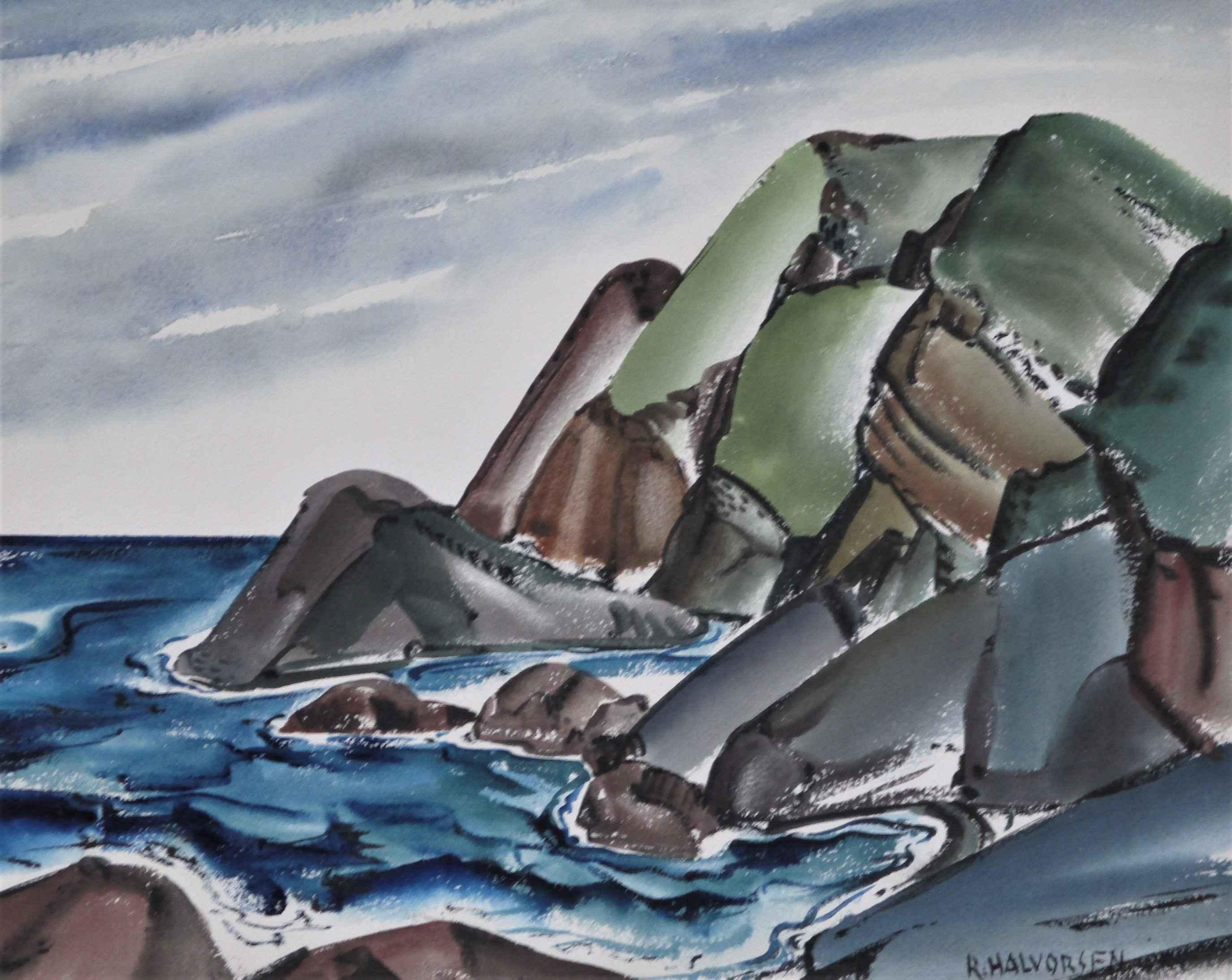 Unknown ( Sea rocks) by  Ruth Halvorsen - Masterpiece Online