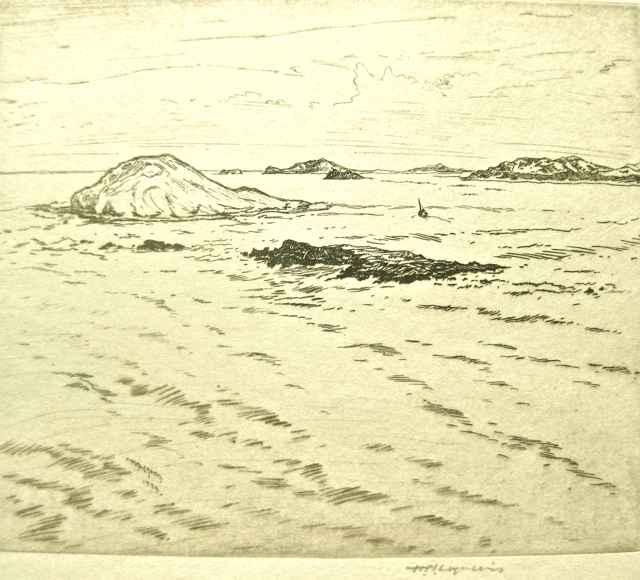Island Cluster by  Huc-Mazelet Luquiens (1881-1961) - Masterpiece Online