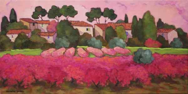 Les Vignes Roses by  Lorraine  Jordan - Masterpiece Online