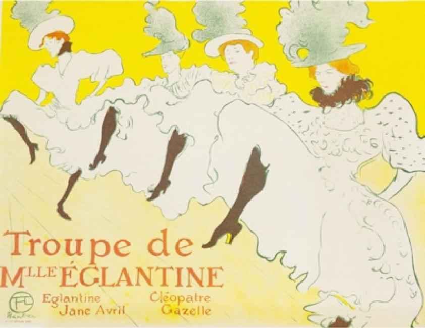 Troupe de Mlle Eglant... by  Henri de Toulouse Lautrec - Masterpiece Online