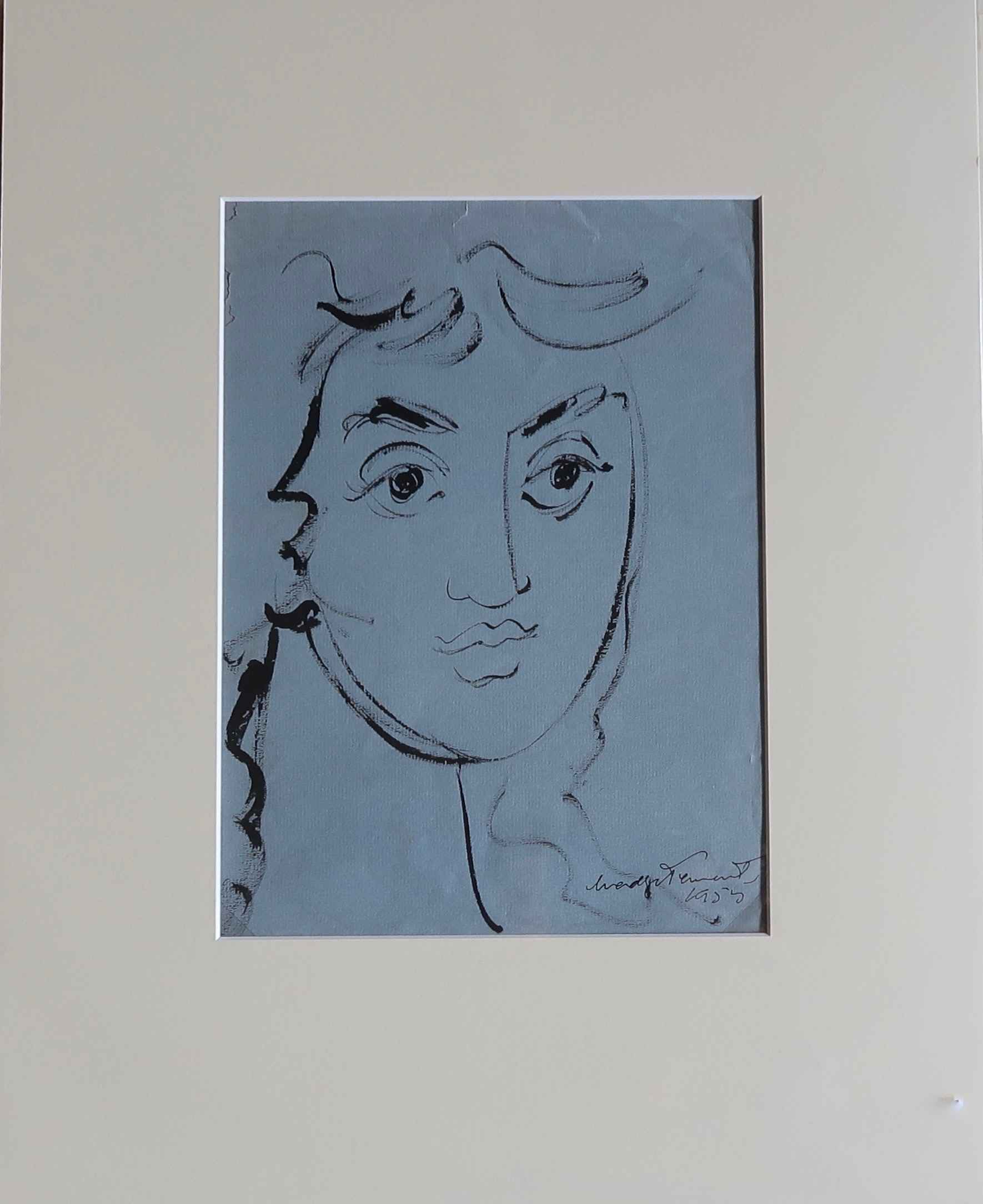 Female Face 4, Line D... by  Madge Tennent (1889-1972) - Masterpiece Online