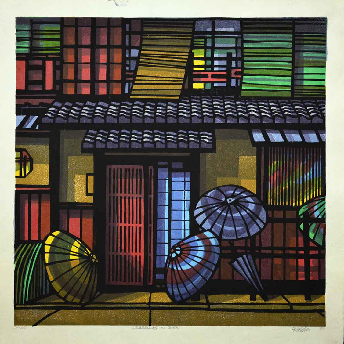 Umbrellas in Gion by  Clifton Karhu - Masterpiece Online
