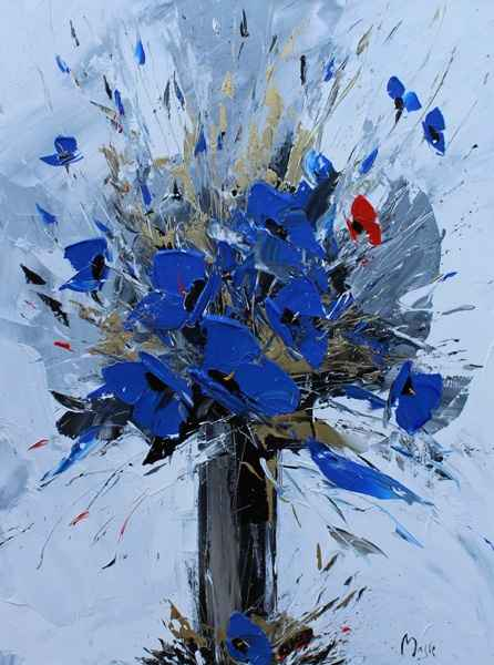 Beautiful Blue  by  Louis  Magre