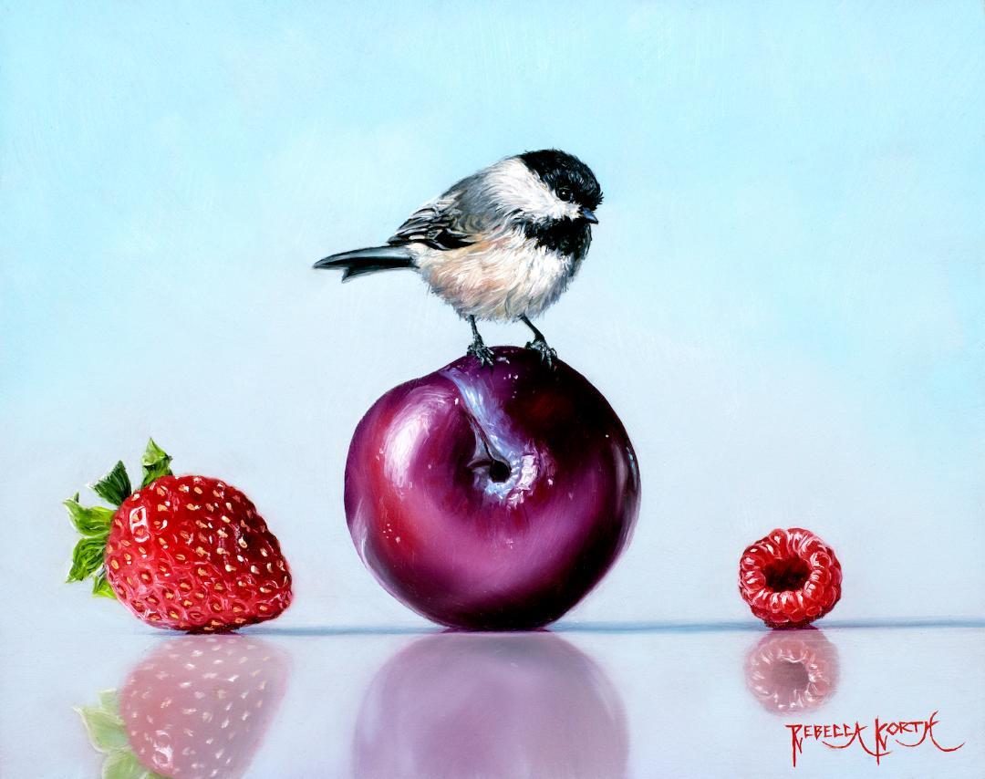 Chickadee & Fruit