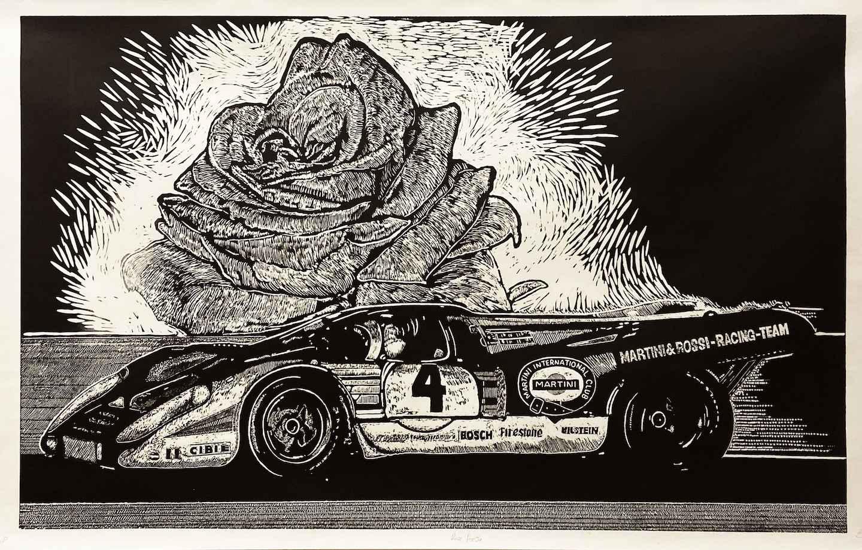 Rose Porsche - Limite... by  Alberto Gomez - Masterpiece Online