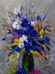 Blue Floral  by  Louis  Magre