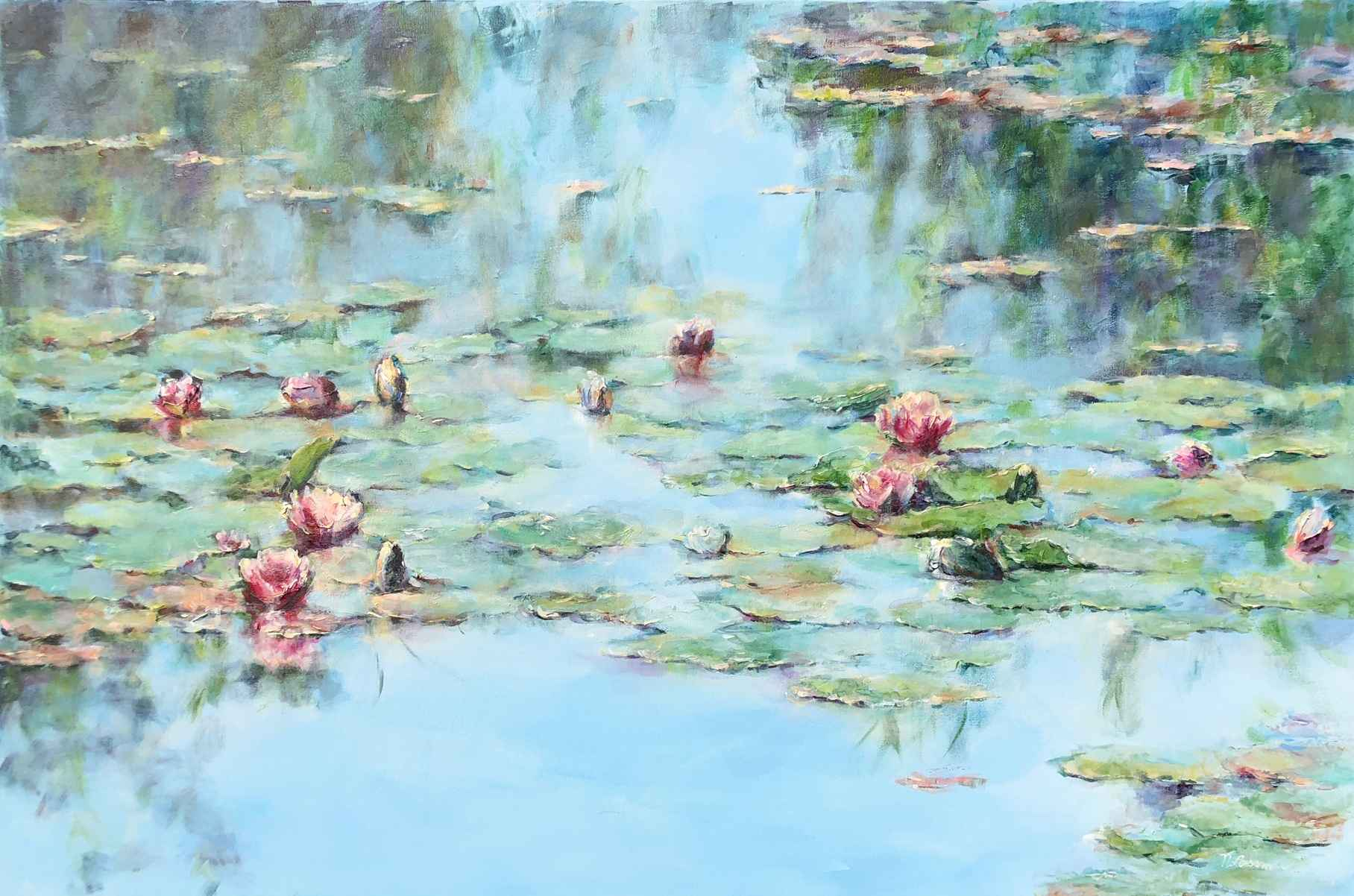 Alluring Lily Pond by  Nadia Lassman - Masterpiece Online