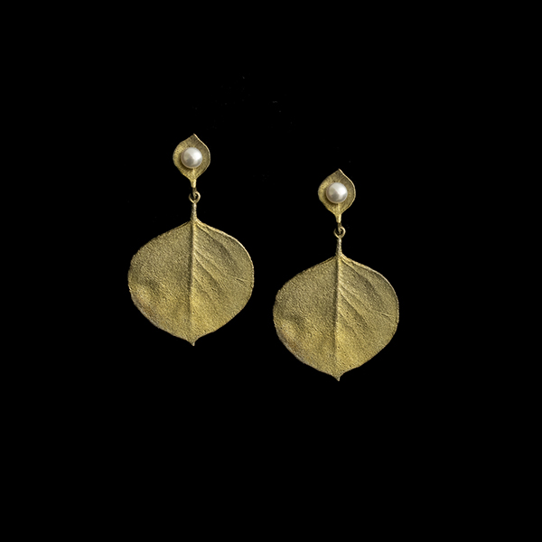 Round Leaf Eucalyptus Post Earring