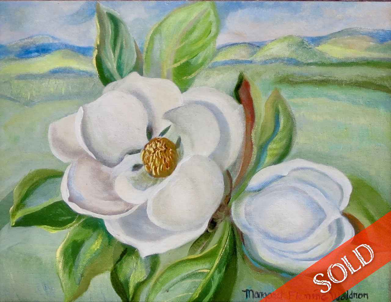 Magnolia, Nuuanu Vall... by  Margaret Fleming Waldron (1910-1992) - Masterpiece Online