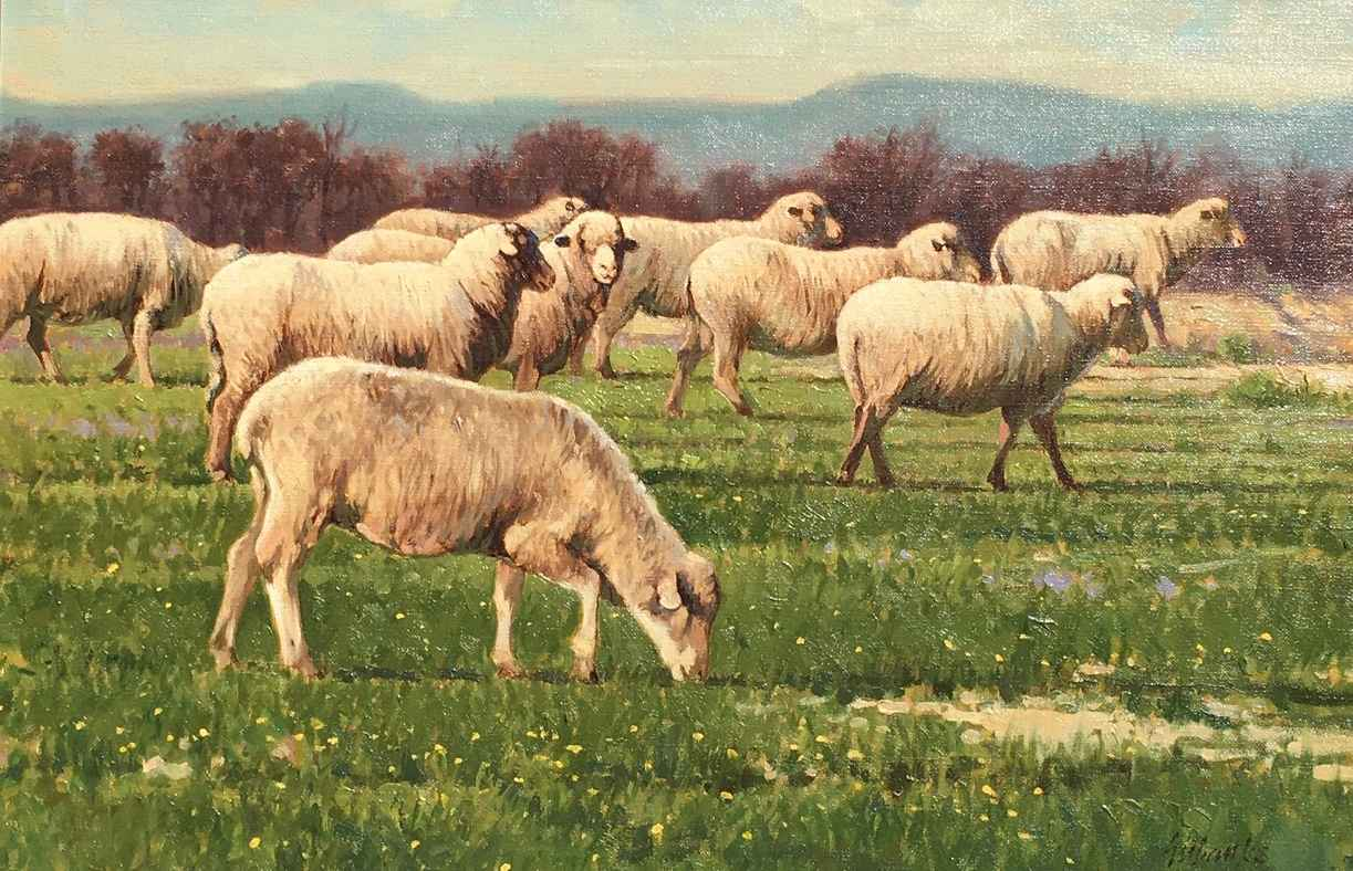 Sheep May Safely Graze by  Tony Eubanks - Masterpiece Online