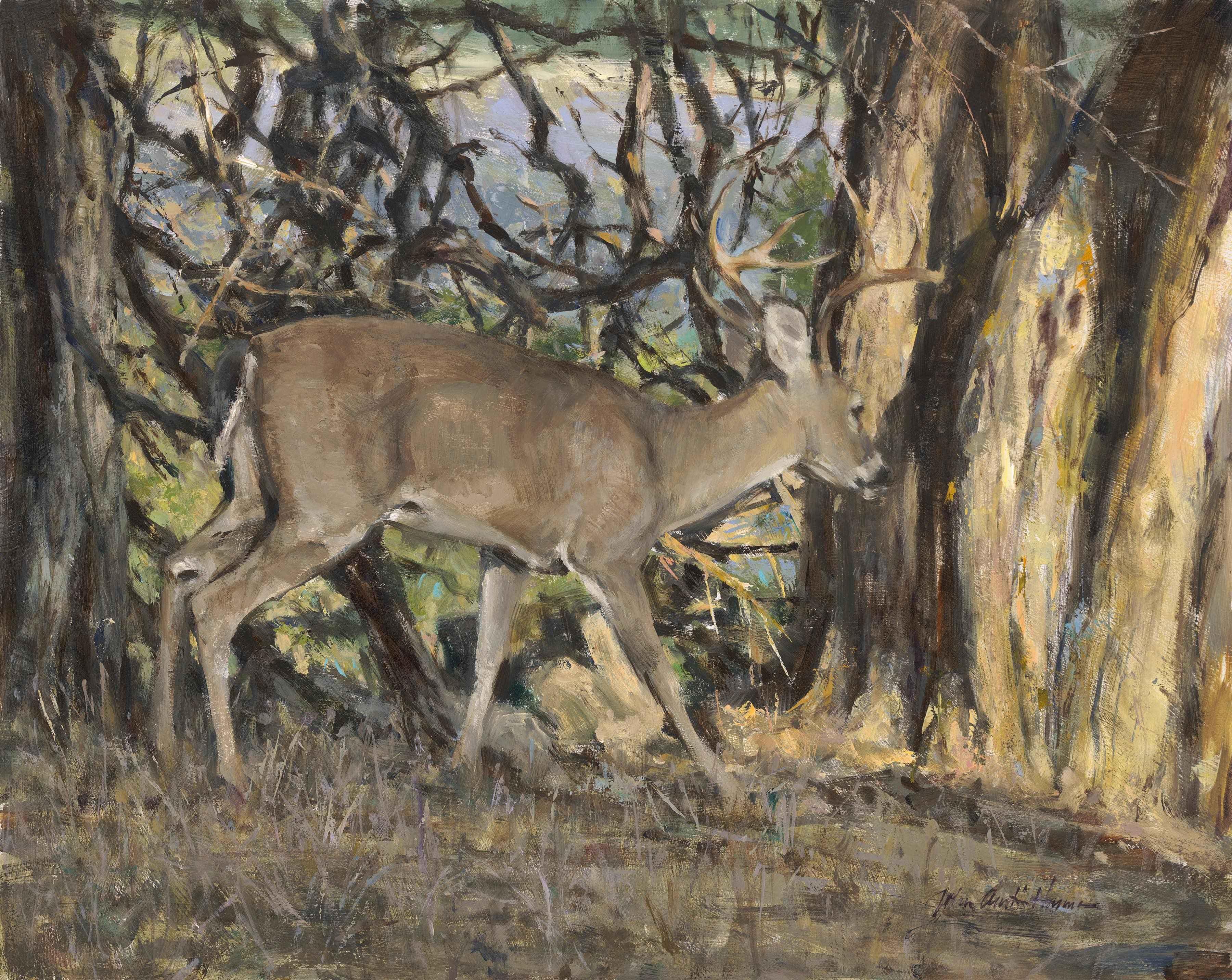 Buck with Muscadine V... by  John Austin Hanna - Masterpiece Online