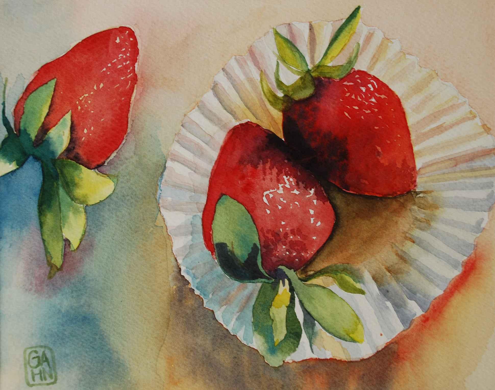 Strawberry Trio by  Judith Gahn Murphy - Masterpiece Online