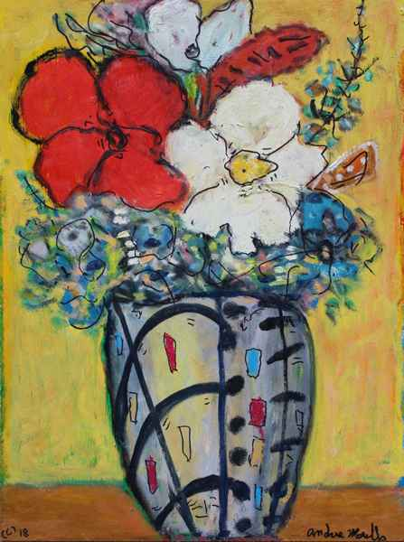 Vase with Expressioni... by  Andres  Morillo - Masterpiece Online