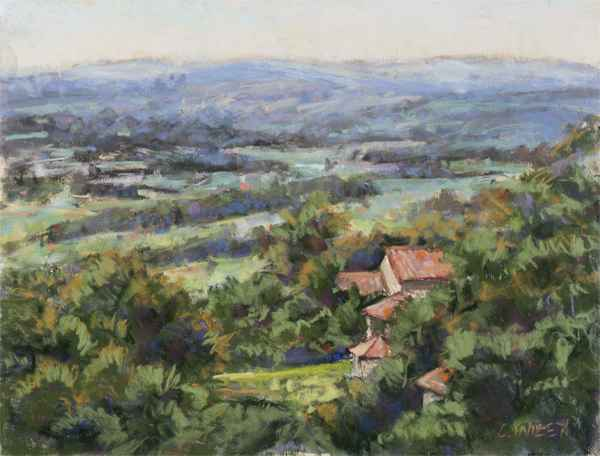 Le Barroux Rooftops by  Chris Willey - Masterpiece Online
