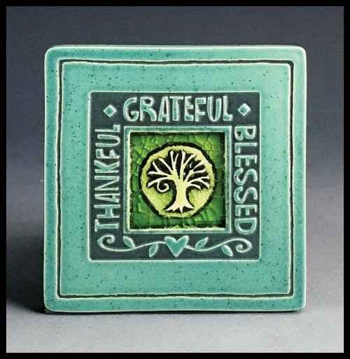 Thankful/Grateful/Blessed Coaster