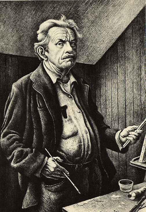 Self Porttrait by  Thomas Hart Benton - Masterpiece Online