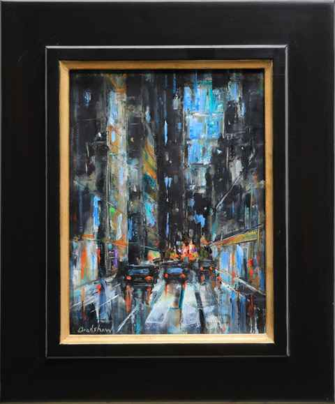 New York Night in Blue by  Bob Bradshaw - Masterpiece Online
