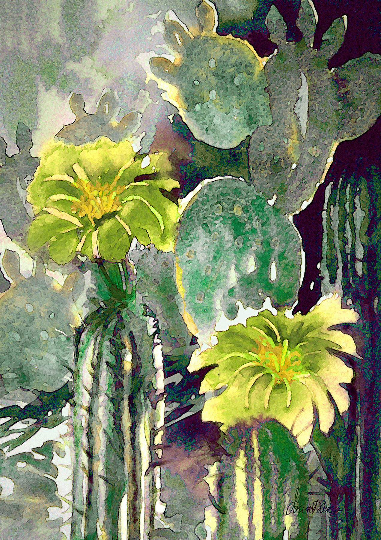 LOBIVIA AND PRICKLY P... by  Ellen Fountain - Masterpiece Online