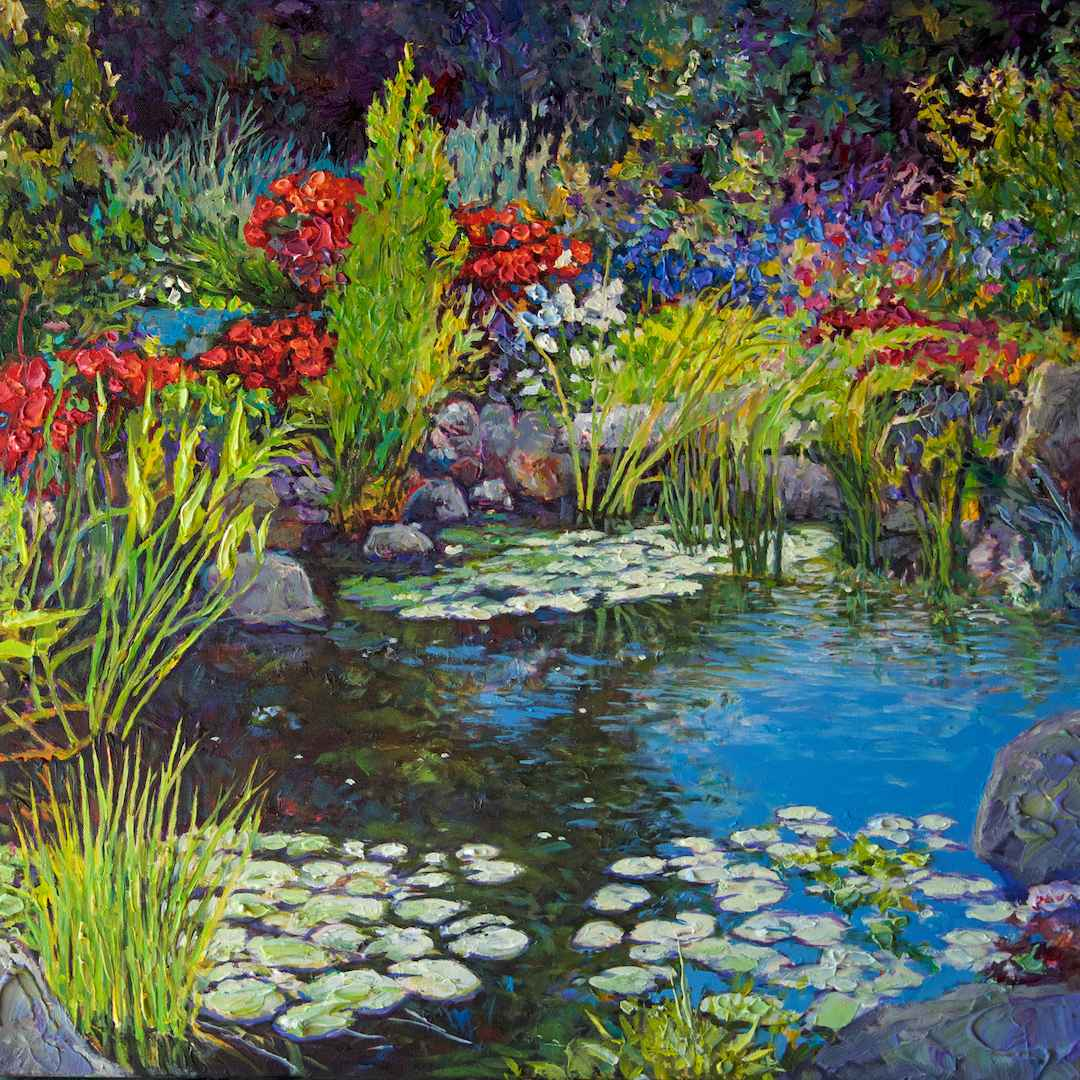 Peaceful Garden by Mr John Burrow - Masterpiece Online