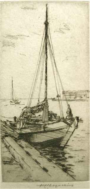 The Sampan by  Huc-Mazelet Luquiens (1881-1961) - Masterpiece Online