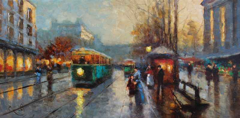 Waiting for the Tram by  Vladimir  Nasonov  - Masterpiece Online