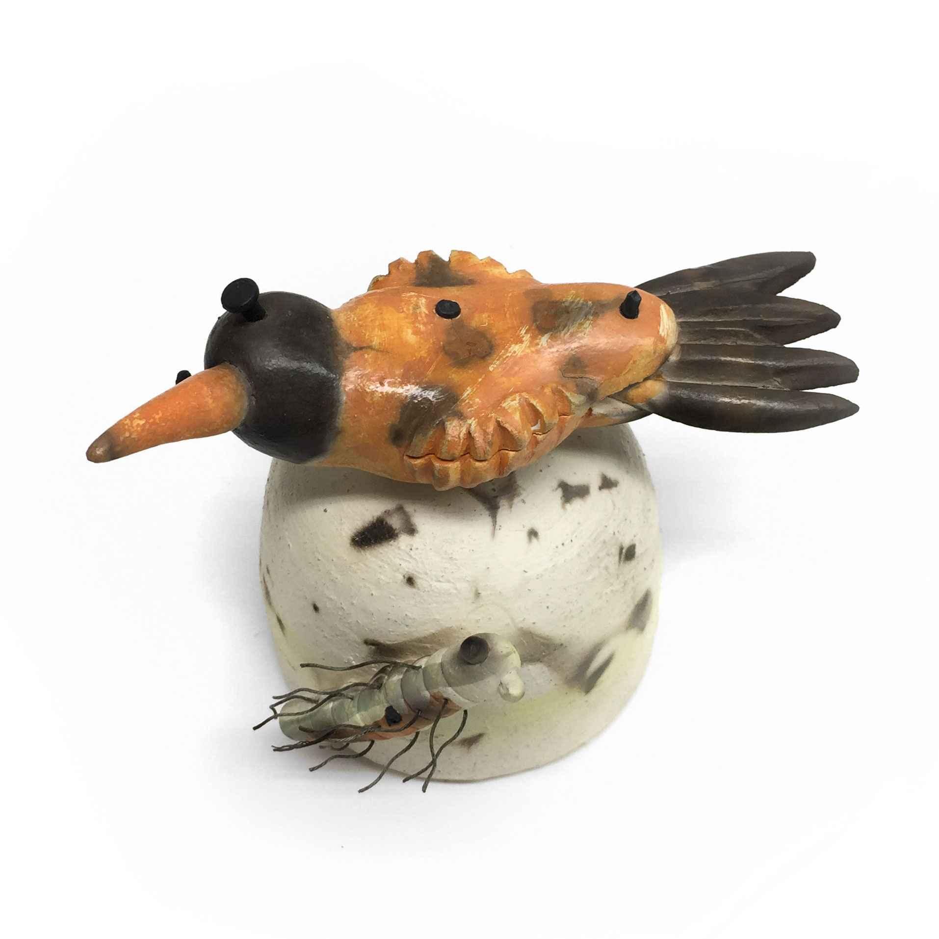 Seated Bird - Orange represented  by  Joe Mariscal