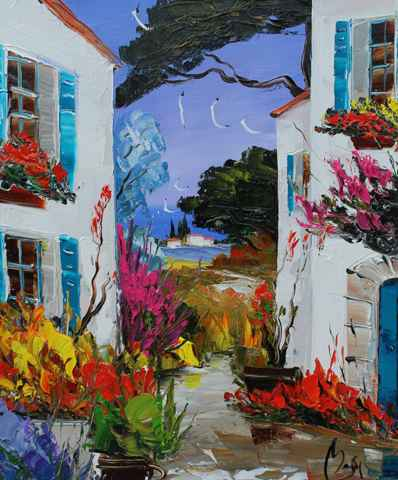 View from the Village by  Louis  Magre - Masterpiece Online