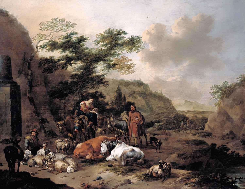 Shepherds with their ... by  Jan Frans Soolmaker - Masterpiece Online