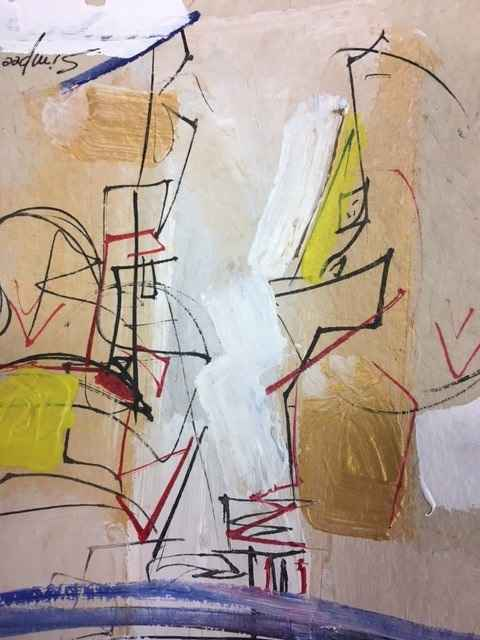 Small Abstract on Pap... by  Simpee Pratap - Masterpiece Online