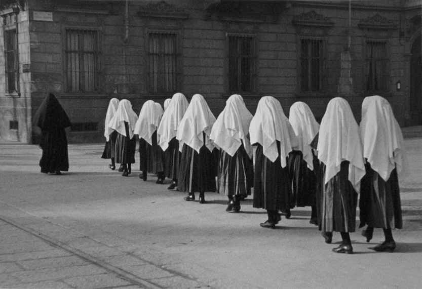 Young Nuns, Turin, It... by  Alfred Eisenstaedt - Masterpiece Online