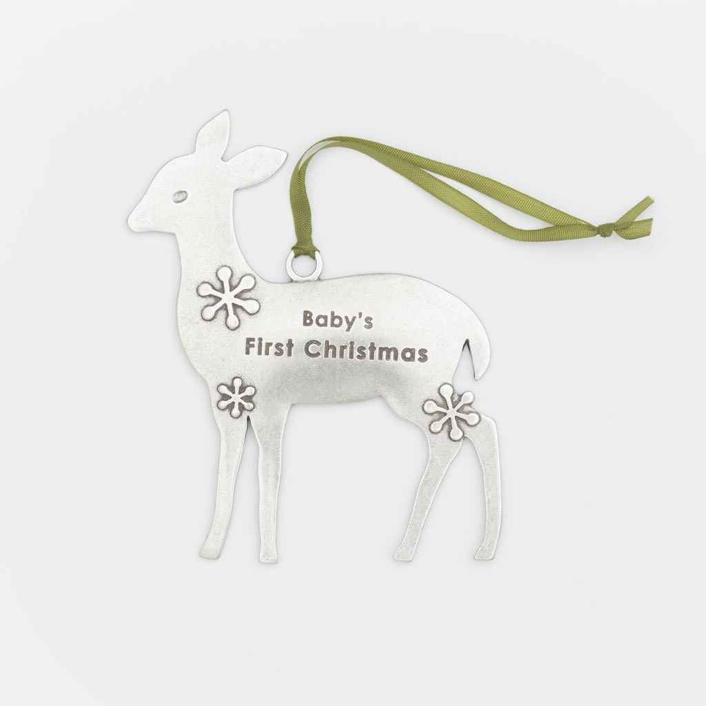Ornament Deer Baby's First Christmas
