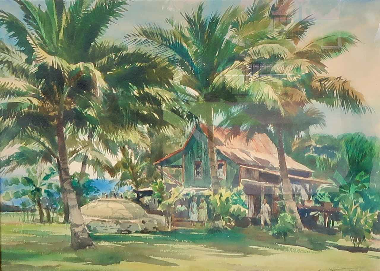 House in Puako by  Emil Jean Kosa, Jr. (1903-1968) - Masterpiece Online