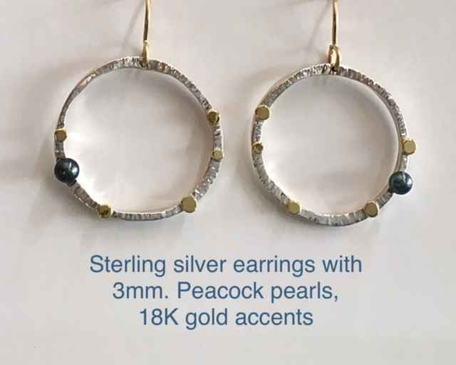Sterling silver earri... by Mrs. Lana McMahon - Masterpiece Online
