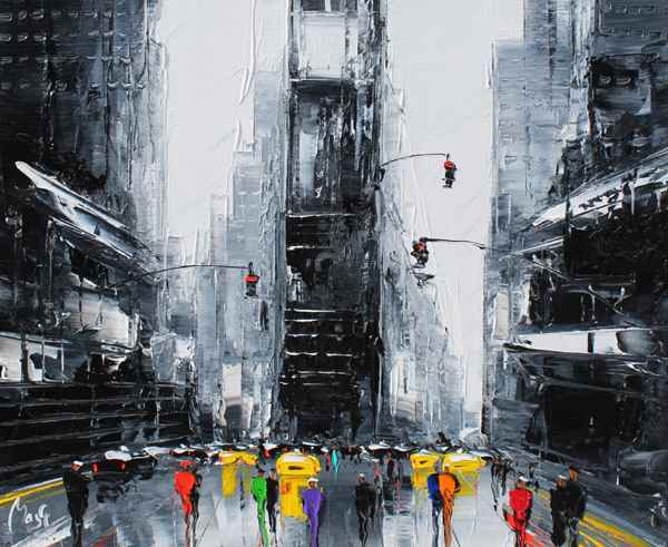 Time Square by  Louis  Magre - Masterpiece Online
