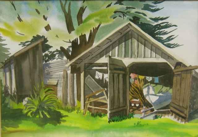 Old Hawaiian Homestead by  Juanita Kenda - Masterpiece Online
