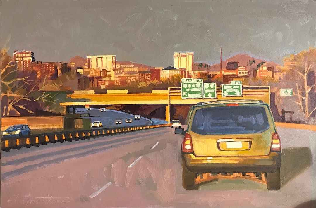 Asheville from the we... by  Christopher Peterson - Masterpiece Online