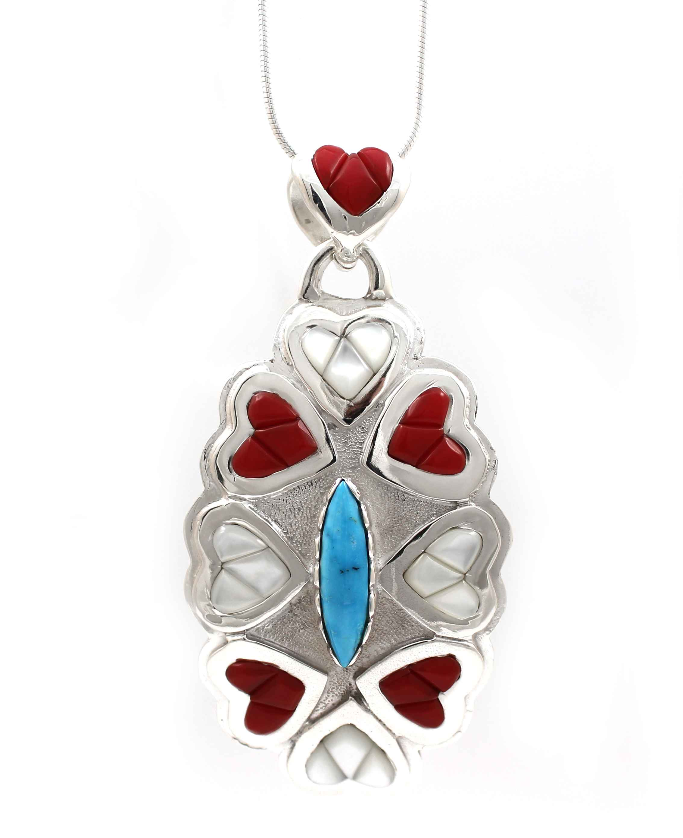 8 Of Hearts Pendant by  Ben Nighthorse - Masterpiece Online
