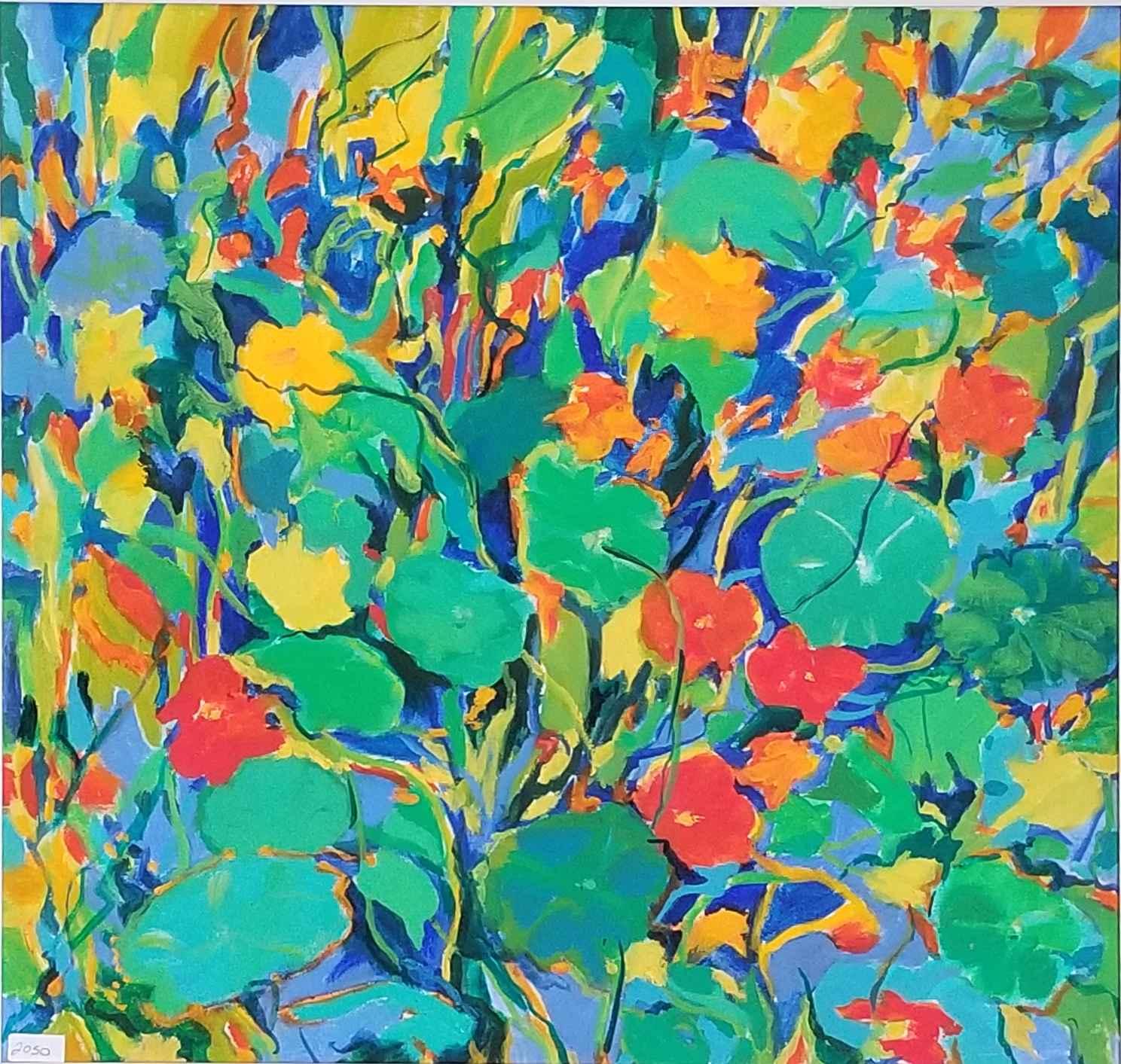 Garden's Edge Nasturs... by  Mary Theisen - Helm - Masterpiece Online