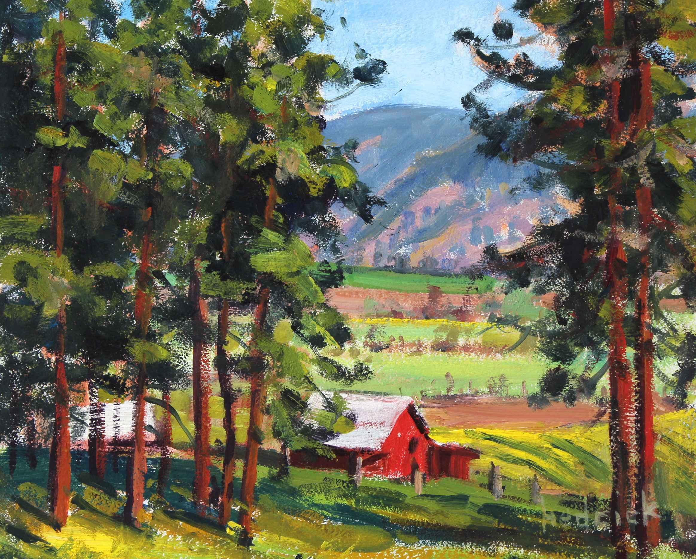 Farmer's Barn  by  Ron Hedrick