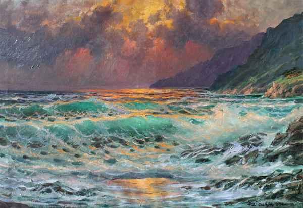 Sunset at Big Sur by  A Dzigurski II - Masterpiece Online